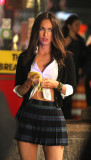 Megan Fox en el conjunto de Teenage Mutant Ninja T...