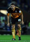 Alex Bruce Bruce de Hull City mira durante la
