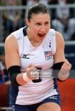 Nicole Davis de los EE.UU. reacciona durante su eq...