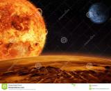 El sol extranjero se levanta sobre una luna rocosa...