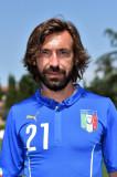 Andrea Pirlo de Italia plantea durante un retrato