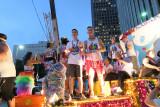 Austin Wallis Nicolay Sysyn en el orgullo Houston...