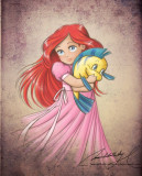 BABY ARIEL Personajes de Walt Disney Arte de fans