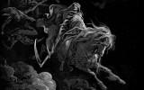 Grim Reaper en dibujo del caballo Caballos de la m...