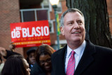 El alcalde de la ciudad de Nueva York, Bill de Bla...