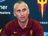 El entrenador de baloncesto de la ASU, Bobby Hurle...