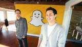 Los cofundadores de Snapchat Evan Spiegel se fuero...