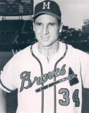 Bobby Thomson Milwaukee Braves Legend 8x10 Prensa...