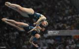 Australia s Briony Cole y Melissa Wu baja competir...