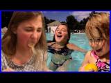 Las niñas del ajo en polvo desafío niños nadan en...