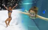 Carla Natación submarina con
