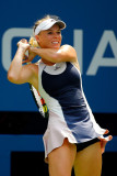 CAROLINE WOZNIACKI en la 1ª ronda del US Open en N...