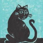 Gato con el dibujo del hilado por