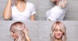 Ash rubia de pelo Raíces y ceniza rubia
