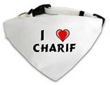 Foulard chien personnalis blanc con J aime