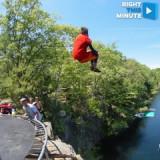 VIDEO No es tu salto de acantilado ordinario