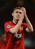 Darren Fletcher del Manchester United aplaude