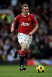 Darren Fletcher del Manchester United en acción