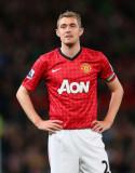 Darren Fletcher del Manchester United mira en