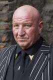 Dave Courtney Dave Courtney llega para el funeral...