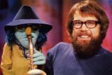 Dave Goelz y Zoot en el set de The