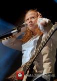 Dave Mustaine Megadeth actuando en concierto en el