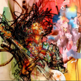 Esta pintura de Jimi Hendrix de David Choe está má...