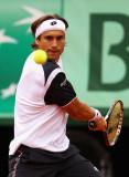 David Ferrer David Ferrer de España juega un revés...