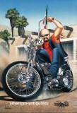 Impresión del cartel de la motocicleta del arte de...