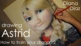 Dibujo Astrid Cómo entrenar a tu dragón Diana