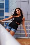 Diana Korkunova Vestido Ray Ban Gafas Zara Shorts...