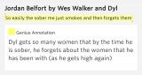 Yo sólo fuma y luego los olvida Jordan Belfort