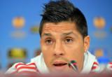 Benfica conferencia de prensa en esta foto enzo pe...