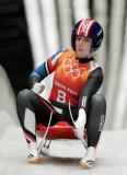 Invierno olimpiadas luge en esta foto erin hamlin...