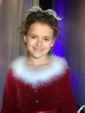 Fina Strazza en el backstage de A Christmas Melody...