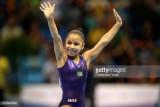Flavia Saraiva de Brasil celebra después de compet...