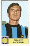 CALCIATORI 1971 1972 Figurina Giacinto FACCHETTI S...