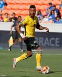 Giles Barnes 9 de Jamaica durante la primera mitad