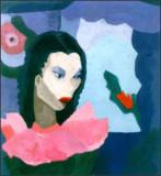 Gwen Knight s Retrato de una chica 1940 óleo sobre...