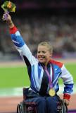 Medalla de oro de Hannah Cockroft London 2012 Para...