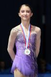 Hannah Miller Hannah Miller de USA con su medalla...