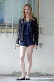 Heather Graham en el set de Half Magic en Los Ánge...