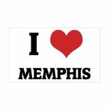 Love Memphis Rectangle Decal