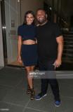 Isabela Rangel y David Grutman llegan al restauran...
