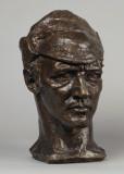 Autorretrato de Sir Jacob Epstein cabeza de bronce...