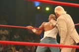 Ric Flair esegue la backhand chop su