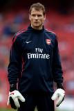 Jens Lehmann Jens Lehmann del Arsenal se calienta...