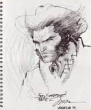 Jim Lee Wolverine Sketch Dibujos de Arte Comic