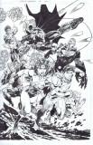 Justice League 12 Pg 1 por Jim Lee Artista Jim Lee