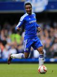 John Obi Mikel John Obi Mikel de Chelsea en acción...